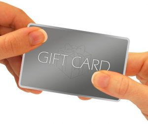 Dealership gift cards program