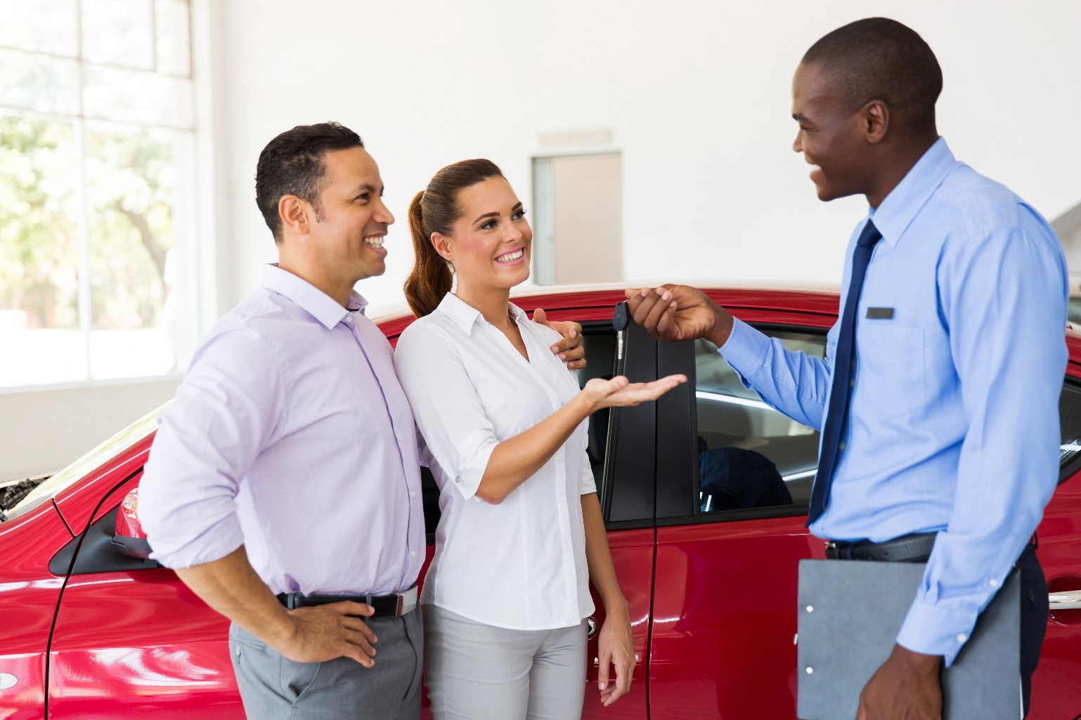Happy Auto Dealership Customers Builds Loyalty